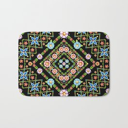 Millefiori Floral Lattice Bath Mat