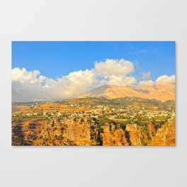 mountains of north Lebanon Canvas Print