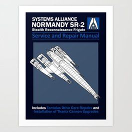 Normandy SR-2 Systems Alliance Service and Repair Manual Art Print