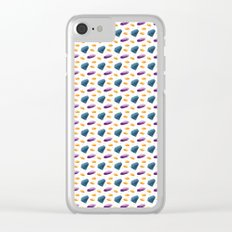 Gems Stones Clear iPhone Case