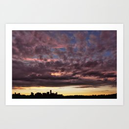 Sunset on September 26, 2016. V Art Print