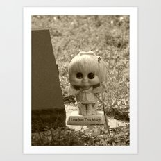creepy statue Art Print