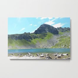 Mountain Stream Alpine landscape Metal Print