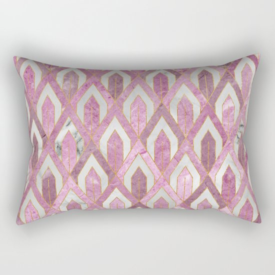 Art Deco Marble Pattern IV Rectangular Pillow
