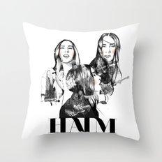 Haim the band Throw Pillow