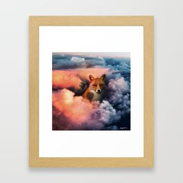 up in the clouds on my way to unknown things. Framed Art Print