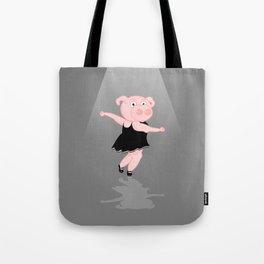 Pig Ballerina Tote Bag