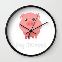 Cute Pig Momma Girl Pet Piglet Owner Mommy Mama Wall Clock