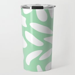 White pebbles on mint Travel Mug
