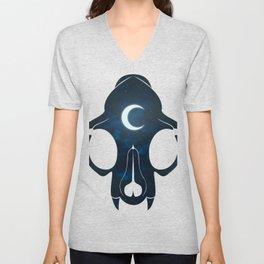 Night Skull Unisex V-Neck