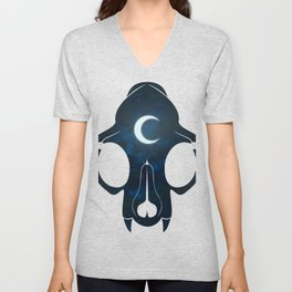 Night Skull Unisex V-Neck