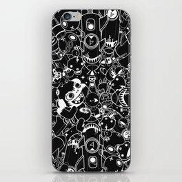 For Good For Evil - Black on White iPhone Skin