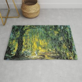 Weeping Willow by Claude Monet Rug