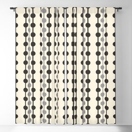 Geometric Droplets Pattern Series in Black Gray Cream Blackout Curtain