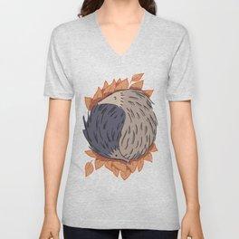 Hedgehog Yin Yang Unisex V-Neck