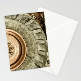 Big Combine Harvester Wheel Stationery Cards