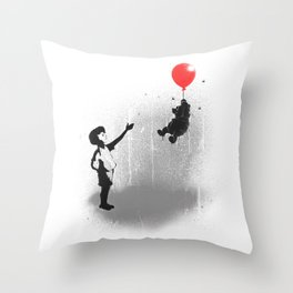 Little Black Rain Cloud Throw Pillow
