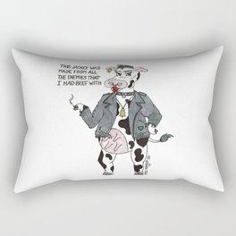 Bossy Bessy Beef Cow Rectangular Pillow