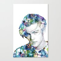 leonardo dicaprio Canvas Prints featuring Young Leonardo DiCaprio  by NKlein Design