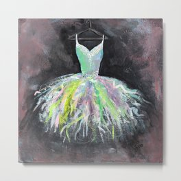 Ballerina Dress 1 - Painting Metal Print