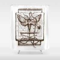 science Shower Curtains featuring Science by Ulla Thynell