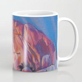 Glowing Joshua Tree sunset as the climbing day draws to a close Coffee Mug