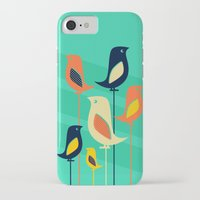 mid century iPhone & iPod Cases featuring Mid Century Birds by Sam Osborne