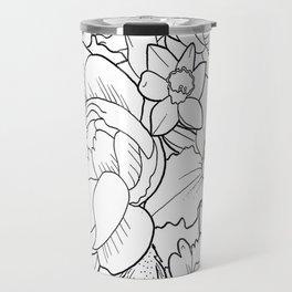 Floral Collage Travel Mug
