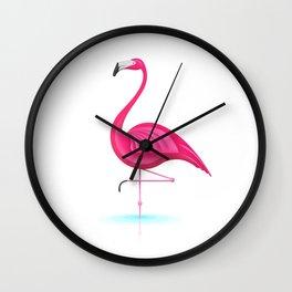 Pink Fury - Flamingo Wall Clock