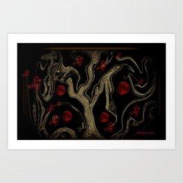 TREE OF MANY MOONS Art Print