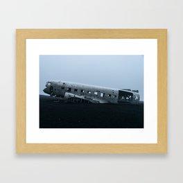 INSURRECTION - Black Ice. Framed Art Print