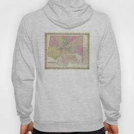 Vintage Map of Baltimore MD (1856) Hoody