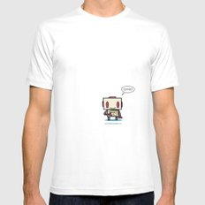 Coffee? White Mens Fitted Tee MEDIUM