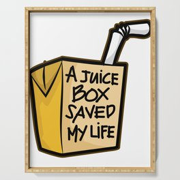 A JUICE BOX Saved my Life Diabetes Diabetic Gift Serving Tray