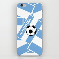 argentina iPhone & iPod Skins featuring Argentina Football by mailboxdisco