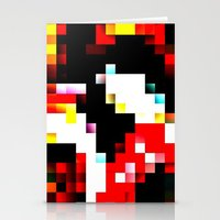 pixel Stationery Cards featuring pixel by shopcicelysiller