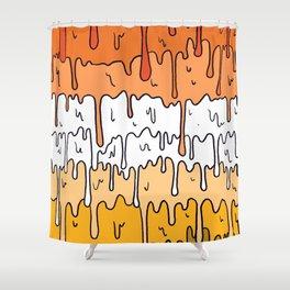 Pastel Kawaii Melting Butch Lesbian Pride LGBTQ Design Shower Curtain
