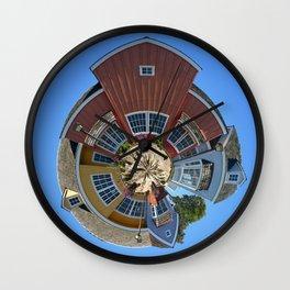 Planet Oxnard Harbor Houses Wall Clock