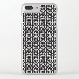Rune Pattern Clear iPhone Case