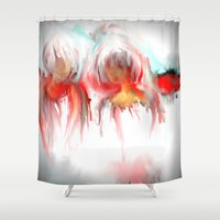 twins Shower Curtains featuring Twins by Jessielee