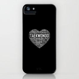 Love Taekwondo Heart iPhone Case