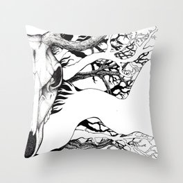 The Erl-King Throw Pillow