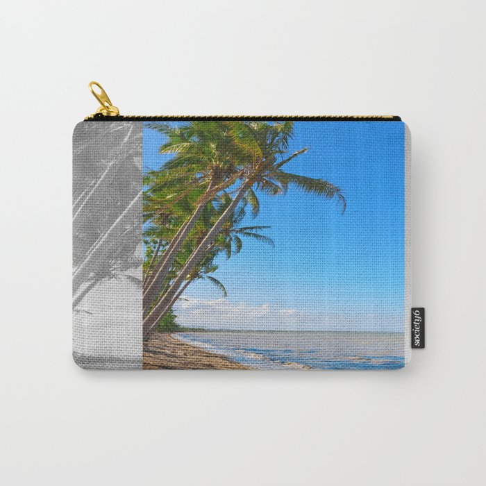 Coconut palms on beach Carry-All Pouch
