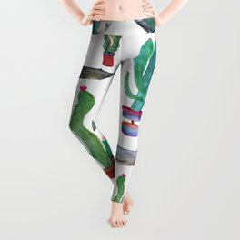 Cactus and Whales Leggings