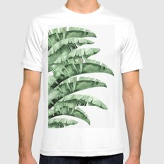 Banana Green Mens Fitted Tee MEDIUM White