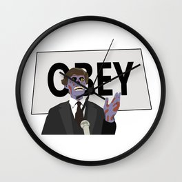 They live Obey Wall Clock