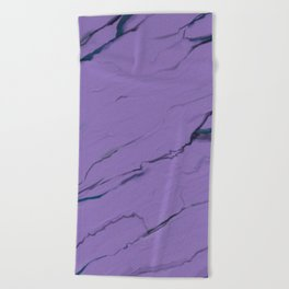 Ultra Violet purple marble texture Beach Towel