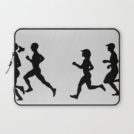 Transitions through Triathlon Runners Drawing B Laptop Sleeve