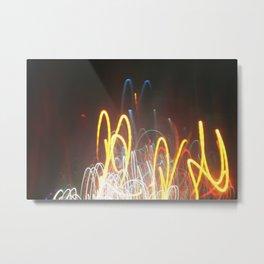 light waves Metal Print