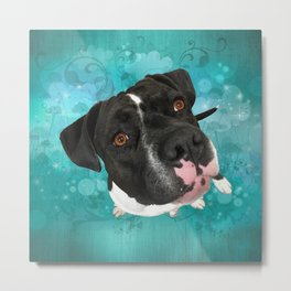 SMiTHY (shelter pup) Metal Print